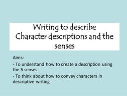 writing character descriptions