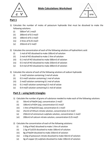 Solutions Concentration Worksheet Driverlayer Search Engine