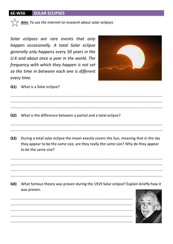 solar eclipse worksheet dcjsss by erhgiez teaching resources tes. Black Bedroom Furniture Sets. Home Design Ideas