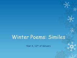 Winter Poems: Similes