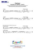 Grade 1 Clarinet Scales (ABRSM)