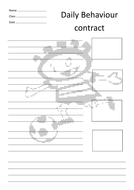 Personalised individual behaviour contracts