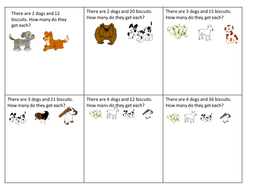 simple division worksheet  dog biscuits by claireh  teaching  simple division worksheet  dog biscuits