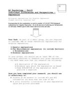 Biodepression Activity Sheet