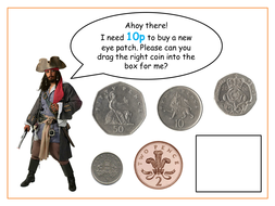 Jack Sparrow coin recognition game