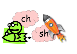 Letters and sounds (stage 3) space themed