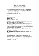 Character Profile Worksheet Much Ado About Nothing