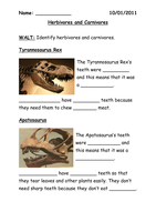 dinosaurs herbivores and carnivores by jwraft uk teaching resources tes. Black Bedroom Furniture Sets. Home Design Ideas