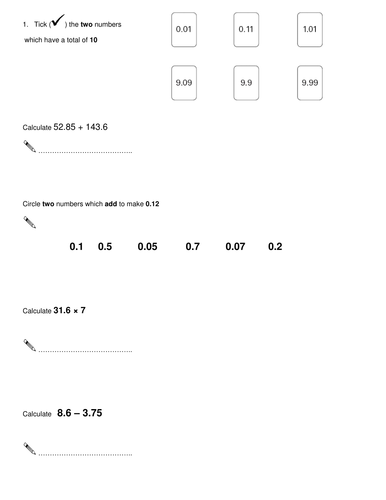 Place Value Worksheets : place value worksheets level 6 Place ...