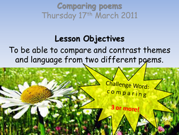 Comparing Poems Full Lesson PP