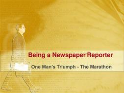 A Newspaper Report - The Marathon.ppt
