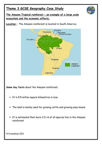 AQA Case Studies Geography