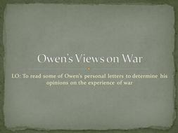 Owen's Views on War - Lesson 4.ppt