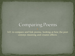 Comparing Poems - Lesson 7.ppt