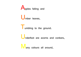 autumn acrostic poem by choralsongster teaching resources. Black Bedroom Furniture Sets. Home Design Ideas