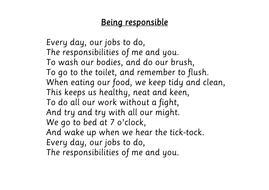 being responsible poem by choralsongster teaching resources tes