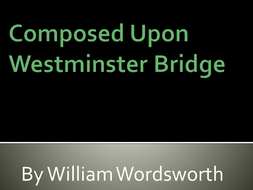 william wordsworth westminster bridge