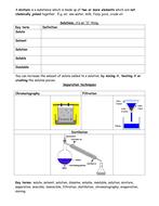 KS3 Chemistry super summaries