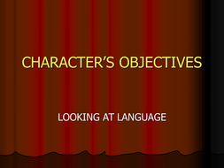 CHARACTER'S OBJECTIVES.ppt
