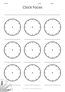 Blank Clock Faces by leannegwilliam - UK Teaching ...