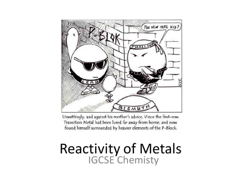 Reactivity Series and Extraction of Metals Unit by Masfar