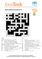 Printables Food Safety Worksheet food safety puzzles by janharper teaching resources tes crossword 1 pdf