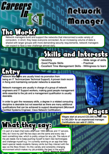 Innovative Classroom Practices Using Ict In England : Careers in ict by uk teaching resources tes
