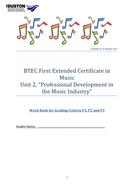 BTEC level 2 Unit 2 workbook