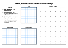 ks3 maths isometric and elevations worksheet by dcp20 teaching resources. Black Bedroom Furniture Sets. Home Design Ideas
