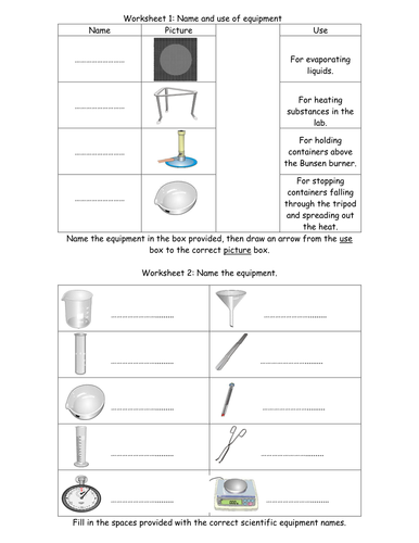 equipment worksheets by jimmylittlewing teaching resources tes. Black Bedroom Furniture Sets. Home Design Ideas
