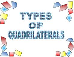 types of quadrilaterals on white backgroundpdf