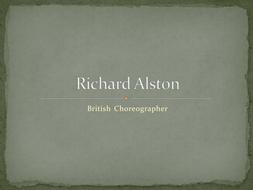 Richard Alston Presentation