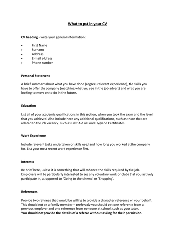 How to write a cv by lucycollingwood teaching resources tes yelopaper Images