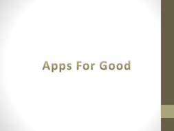 Apps for Good related lesson teaching resource