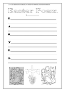 Easter poems templates