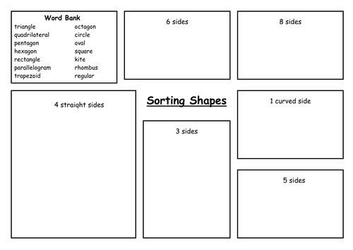 Sorting 2D Shapes by carolebeachill Teaching Resources TES – 2d and 3d Shapes Worksheet
