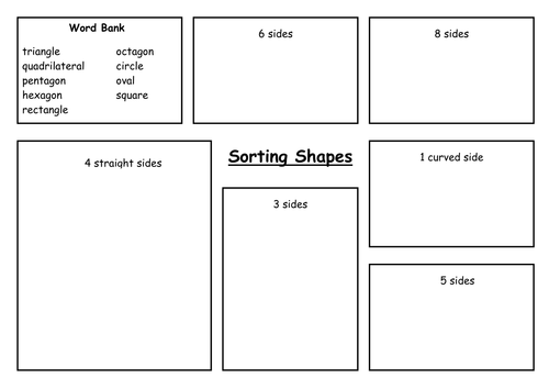 Sorting 2D Shapes by carolebeachill Teaching Resources Tes – 3d Shape Worksheets for Kindergarten
