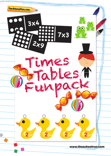 times tables funpack by theschoolrun teaching resources tes