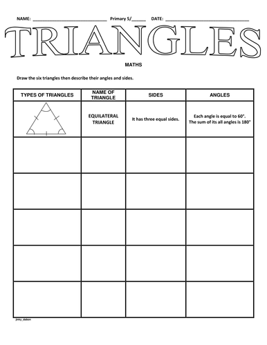 Draw The Types Of Triangles By Jinkydabon Teaching