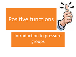 Functions of Pressure Groups