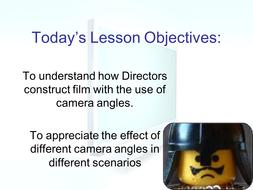 Full lesson PP camera Angles & Worksheet
