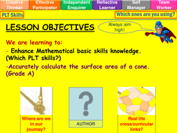 Surface area of a cone lesson
