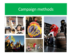 Campaign methods used by pressure groups