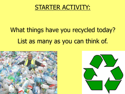 The Environment and Recycling
