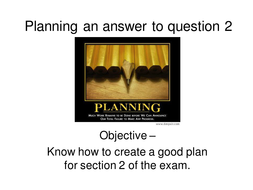 Planning an answer to question 2.ppt