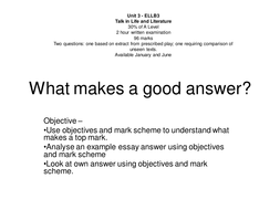What makes a good answer.ppt
