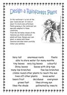 Design Your Own Rainforest Animal/Plant