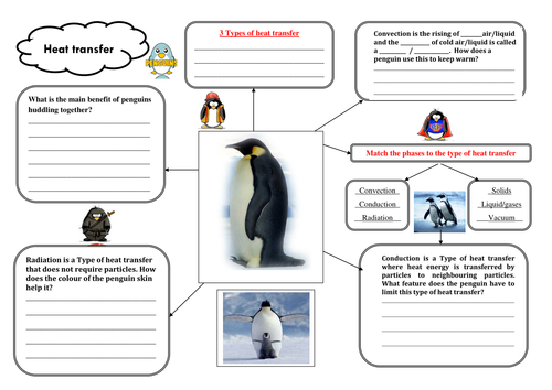 Printables Heat Transfer Worksheet penguin heat transfer worksheet by jenninja teaching resources tes