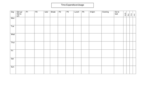 Time management by leighbee23 - Teaching Resources - TES