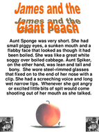 James and the Giant Peach Reading Lesson